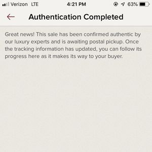 Poshmark - Great news! Authentication Completed